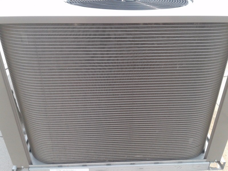 Microchannel coil submitted as hail damage but is not damaged